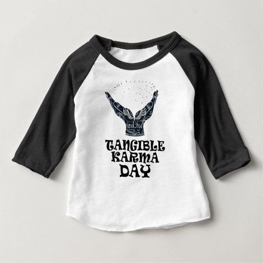 Fühlbarer Karma-Tag Baby T-shirt