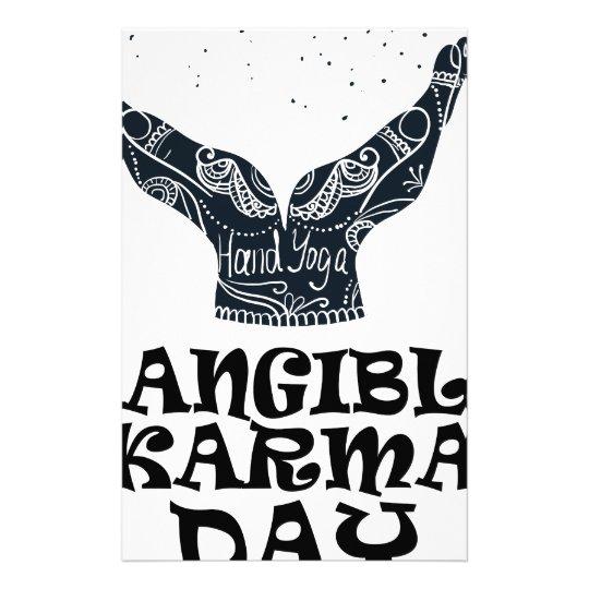 Fühlbarer Karma-Tag Briefpapier