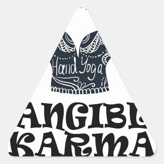 Fühlbarer Karma-Tag Dreieckiger Aufkleber
