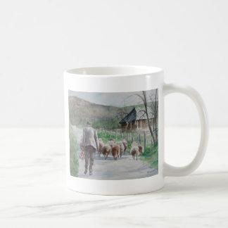 Führung der Schafe Kaffeetasse