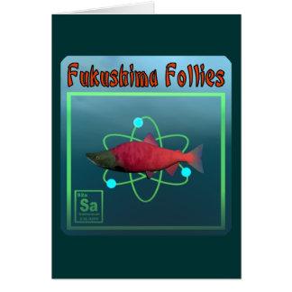 Fukushima-Unsinnigkeiten Karte