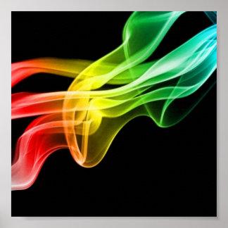 fumée d'arc-en-ciel posters