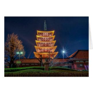 Fünf-Dach Pagode am Asakusa Tempel, Tokyo Karte