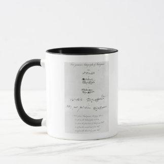 Fünf echte Autogramme von William Shakespeare Tasse