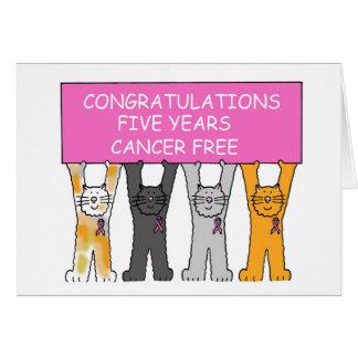 Fünf Jahre Krebs geben Jahrestag frei Karte