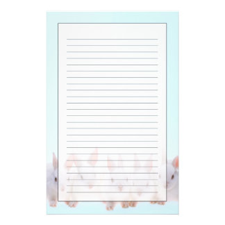 Fünf Kaninchen Briefpapier