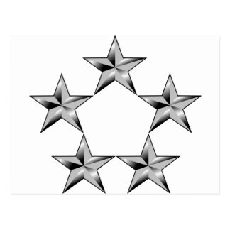 Fünf-Stern-allgemein Postkarte