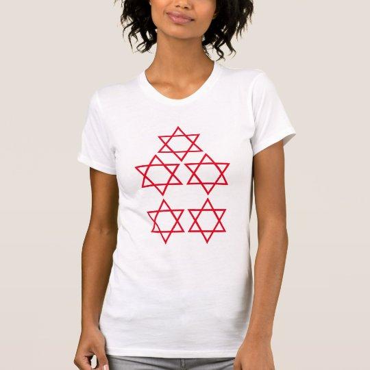 Fünf-Sternefünf spielen Fünf-Sternescheinbildkunst T-Shirt