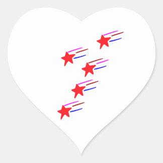 Fünf-SterneRedSTAR künstlerische GESCHENKE   ALLE Herz-Aufkleber