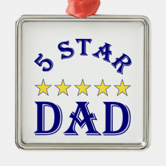 Fünf-Sternevati Silbernes Ornament