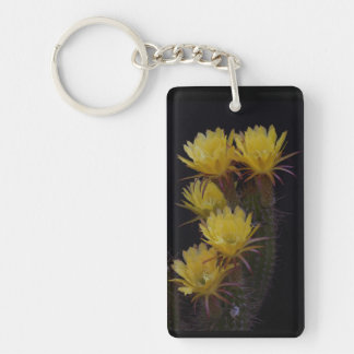 Fünffache Kaktus-Blumen Schlüsselanhänger