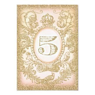 Fünfte Geburtstags-einst Prinzessin 12,7 X 17,8 Cm Einladungskarte