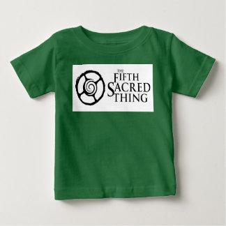 Fünftes heiliges Logo mit hinterem Zitat Baby T-shirt