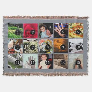 Fünfzehn Ihres Foto-Graus machen Ihre eigene Decke