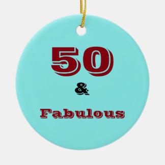 Fünfzig und fabelhafte Feierverzierung Keramik Ornament