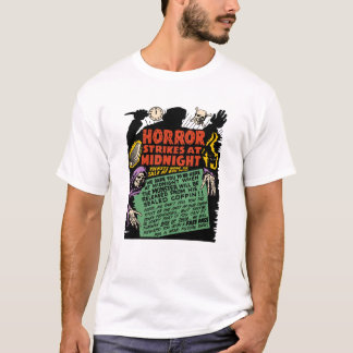"""Fünfzigerjahre """"Horror-Streiks am Mitternachts"""" T T-Shirt"""