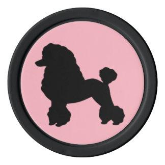 Fünfzigerjahre rosa Pudel-Rock-Poker-Chips Pokerchips