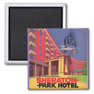Fünfzigerjahre Sheraton Park-Hotel - Washington, Quadratischer Magnet