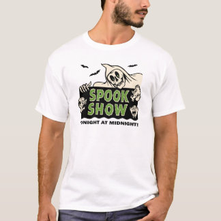 Fünfzigerjahre Vintage Spook-Show-Plakat-Kunst T-Shirt