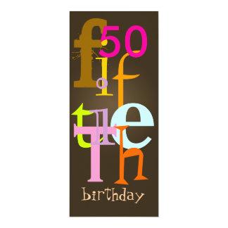 Fünfzigste Geburtstags-Party Einladungen