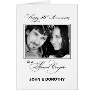 Fünfzigster Hochzeits-Jahrestags-individueller Karte