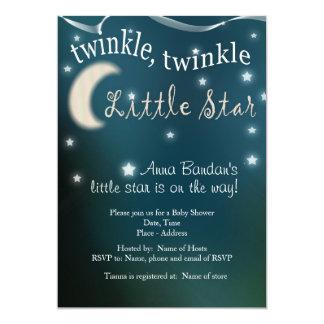 Funkeln, Funkeln, kleiner Stern 12,7 X 17,8 Cm Einladungskarte