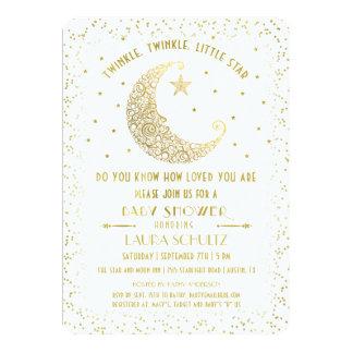Funkeln-Funkeln-Stern-Babyparty-Einladung Karte