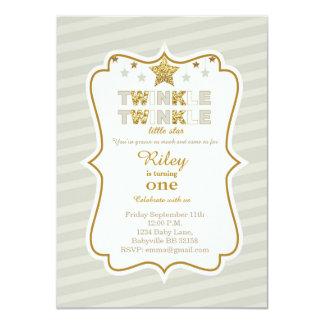 Funkeln-Funkeln-Stern-Geburtstagseinladung 11,4 X 15,9 Cm Einladungskarte