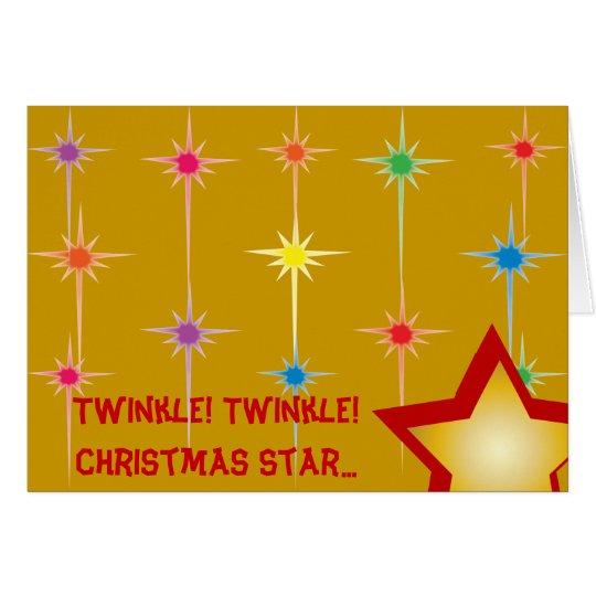 Funkeln-Funkeln-Weihnachtsstern… - fertigen Sie Karte