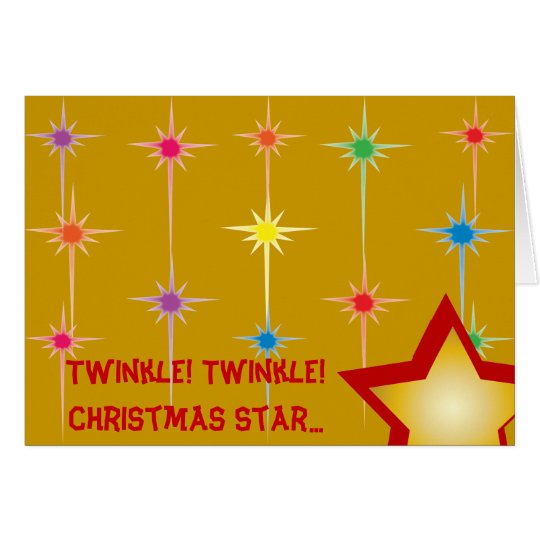 Funkeln-Funkeln-Weihnachtsstern… - fertigen Sie Mitteilungskarte