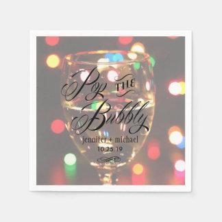 Funkeln-Schein Bokeh helle Champagne Papierservietten