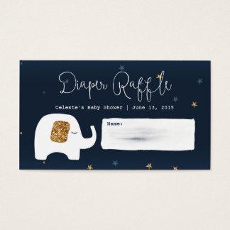 Funkeln-Stern-Babypartyraffle-Karten Visitenkarte