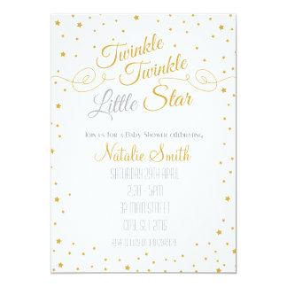 Funkeln-Stern-Einladungs-Babyparty-Gold Karte