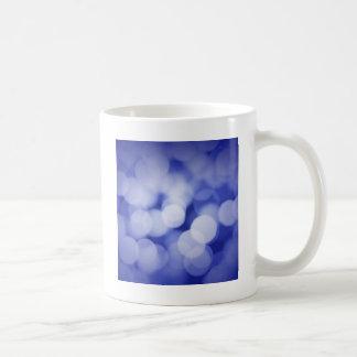 Funkelnd blaue Lichter Kaffeetasse