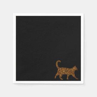 Funkelnd Katze Papierservietten