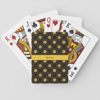 Funkelnd orange Polka-Punkt-Schwarzes Spielkarten