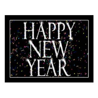 Funkelnde neue Jahre Postkarte