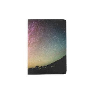 Funkelnde Stern-Regenbogen-Galaxie Passhülle