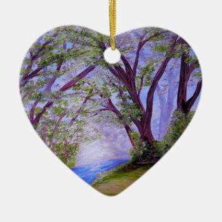 Funkelnder Fluss Keramik Herz-Ornament
