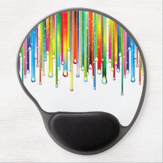 Funkelnder flüssiger Regenbogen Gel Mousepad