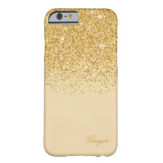 Funkelnder goldener Glitz und Glitzer Barely There iPhone 6 Hülle