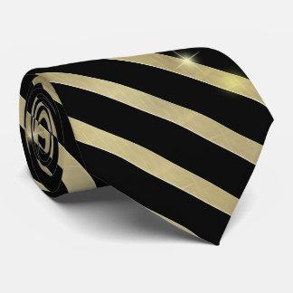 Funkelnder Goldstreifen ID285 Individuelle Krawatte
