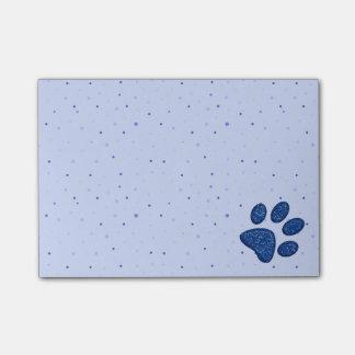 funkelnder Katzentatzendruck - Blau Post-it Klebezettel