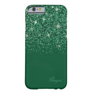 Funkelnder SmaragdGlitz und Glitzer Barely There iPhone 6 Hülle