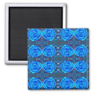 Funkelndes Blau Quadratischer Magnet