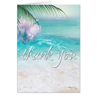 FUNKELNDES OZEAN-WASSER dankt Ihnen Grußkarte