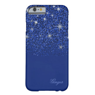 Funkelndes Saphir-Blau mit Glitzer Barely There iPhone 6 Hülle