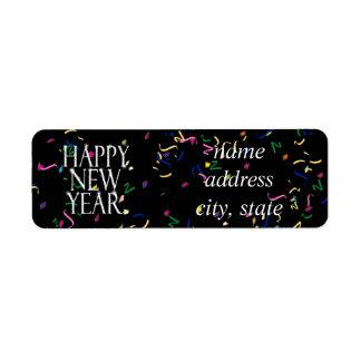 Funkelnguten Rutsch ins Neue Jahr Kleiner Adressaufkleber