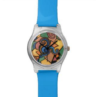 Funky abstrakte Kunst Uhr