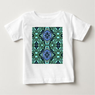 Funky aquamarines lila künstlerisches Muster Baby T-shirt